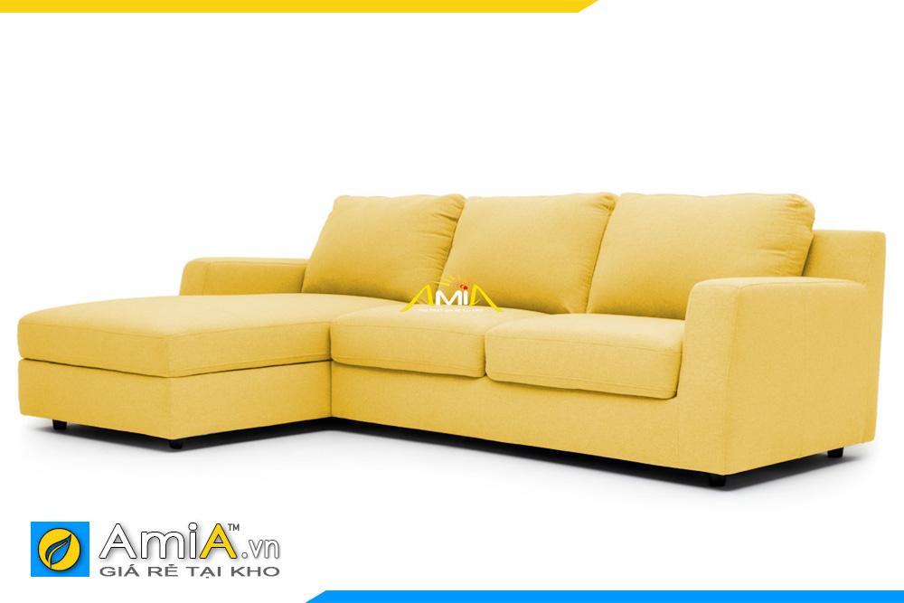 Chất liệu vải nỉ màu vàng làm cho ghế sofa AmiA 20227 tăng thêm sự nổi bật và sang trọng hơn.