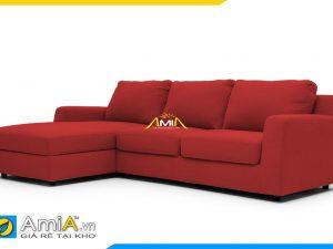 sofa đẹp bọc vải nỉ màu đỏ