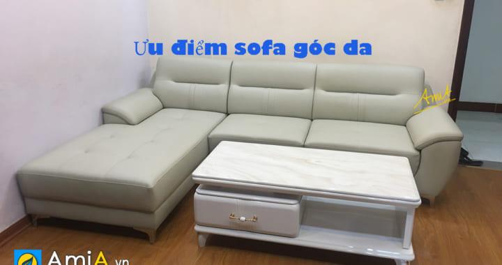 ưu nhược điểm sofa góc da