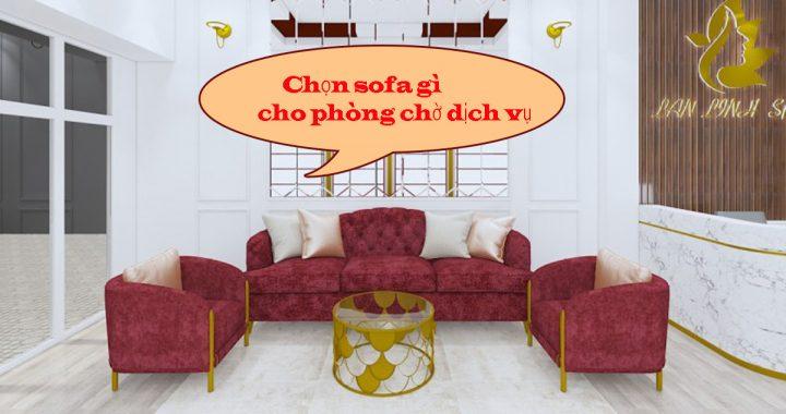 sofa góc đẹp cho phòng chờ dịch vụ